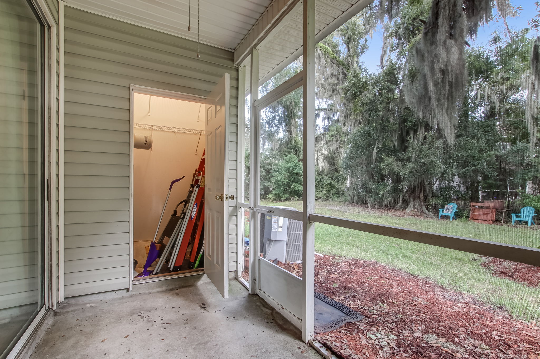 Screened-in Porch with Storage