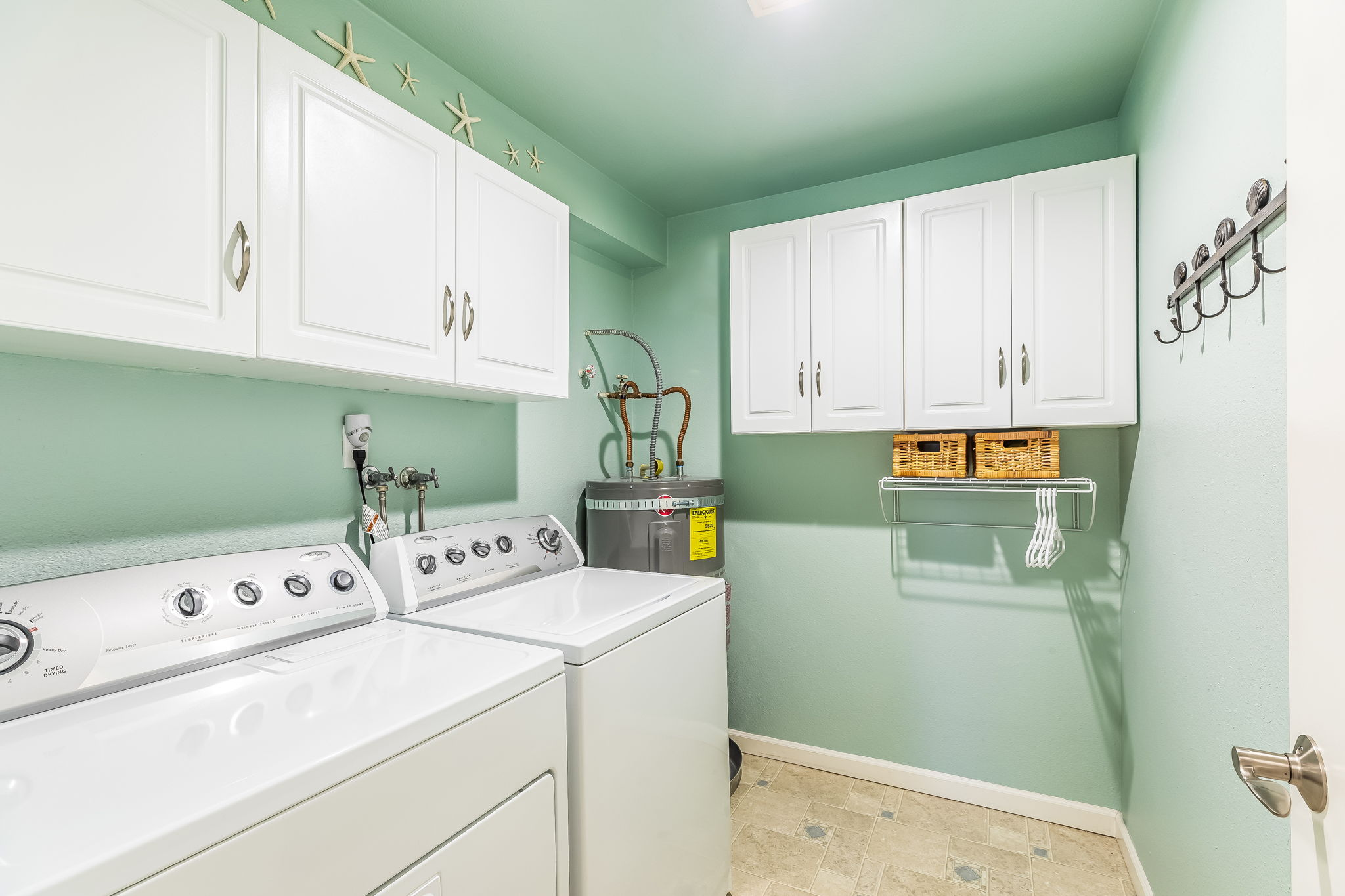 Separate Laundry with lots of storage