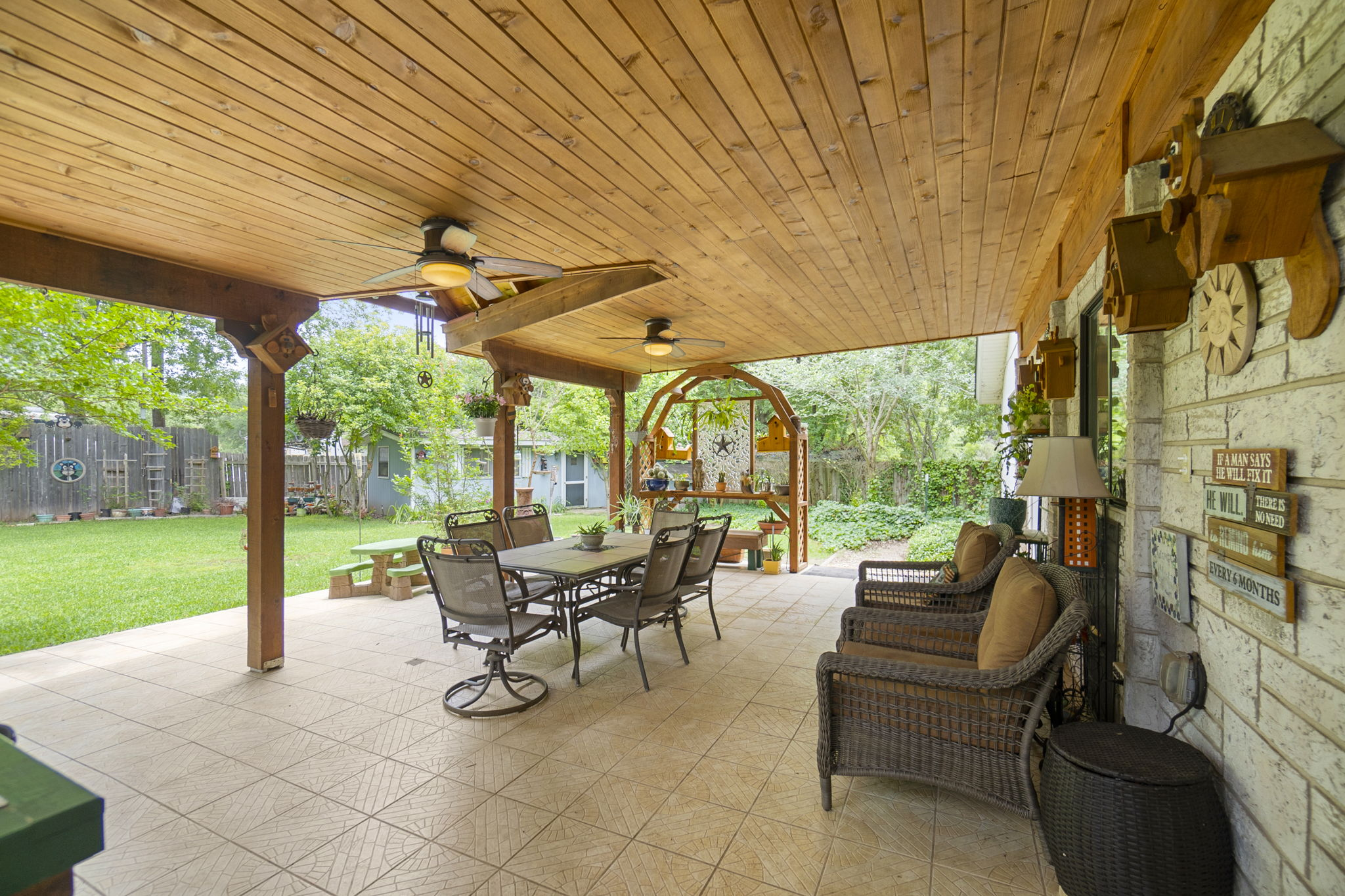 Captivating back patio cover