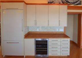Refrigerator and Wine Fridge