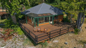 Cabin From Air - Close