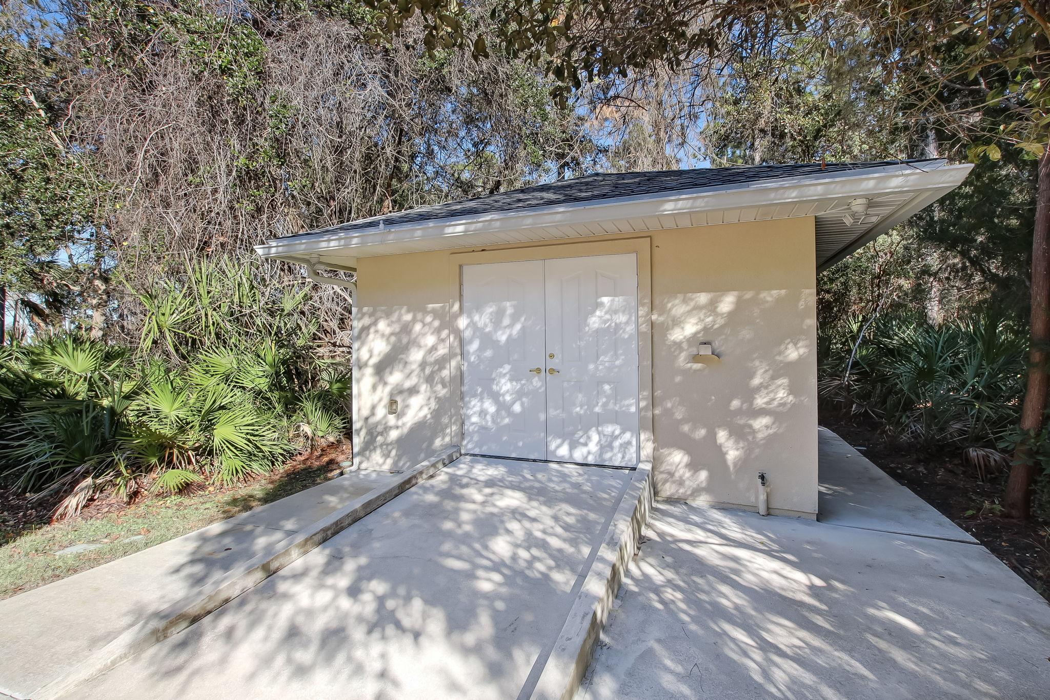 Storage-outside utility room/pumphouse