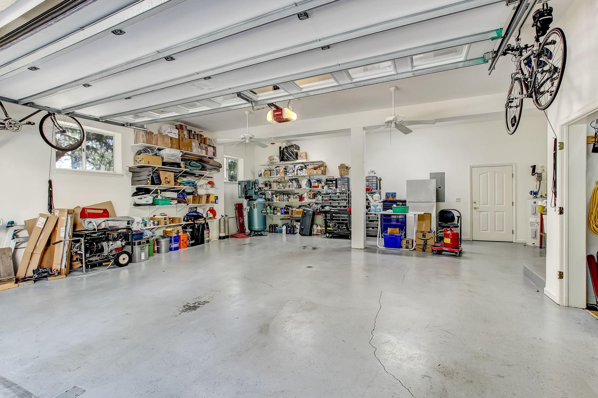 Oversized garage with engineered elevator shaft