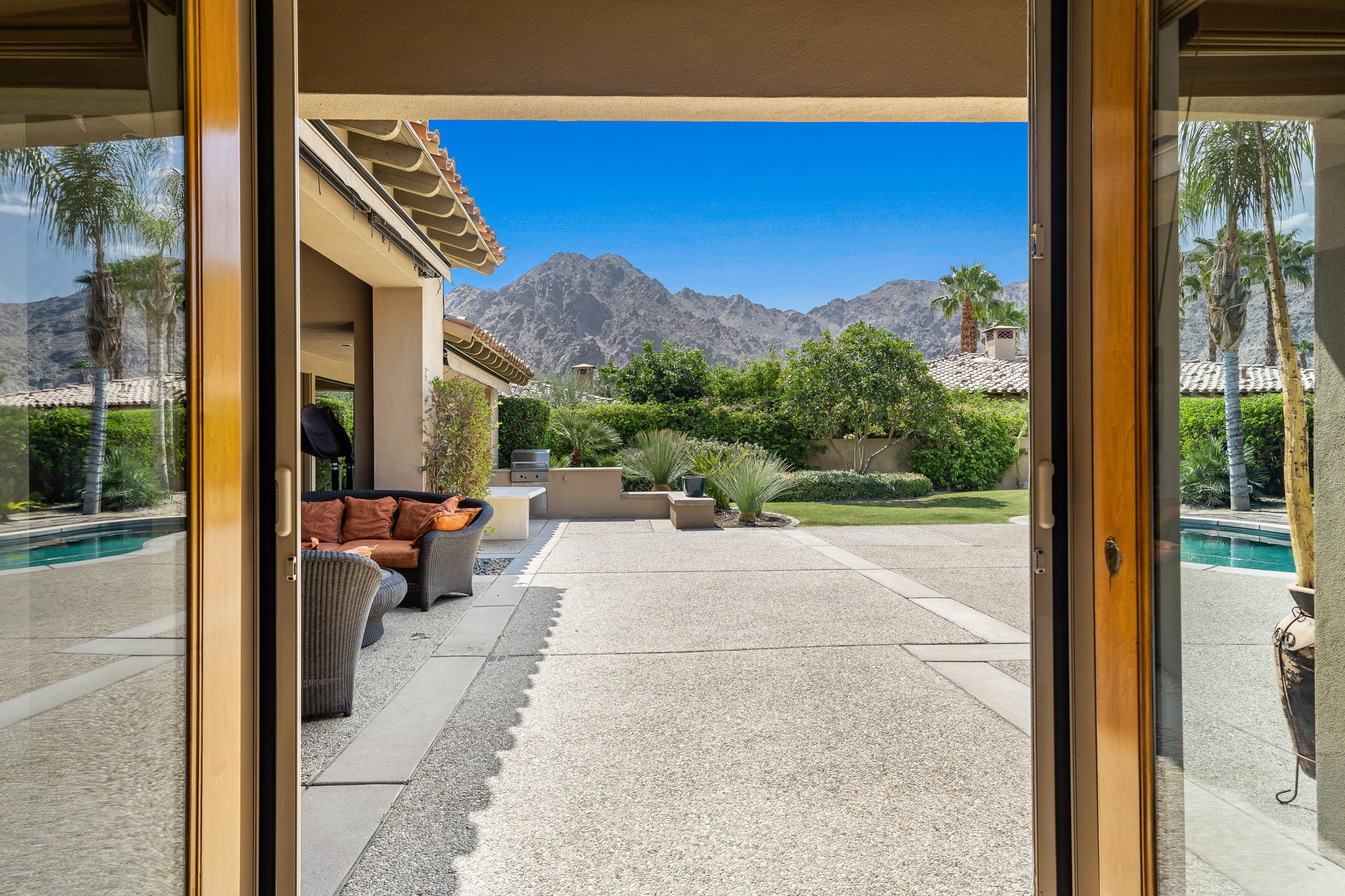 French Doors south from Master Bedroom