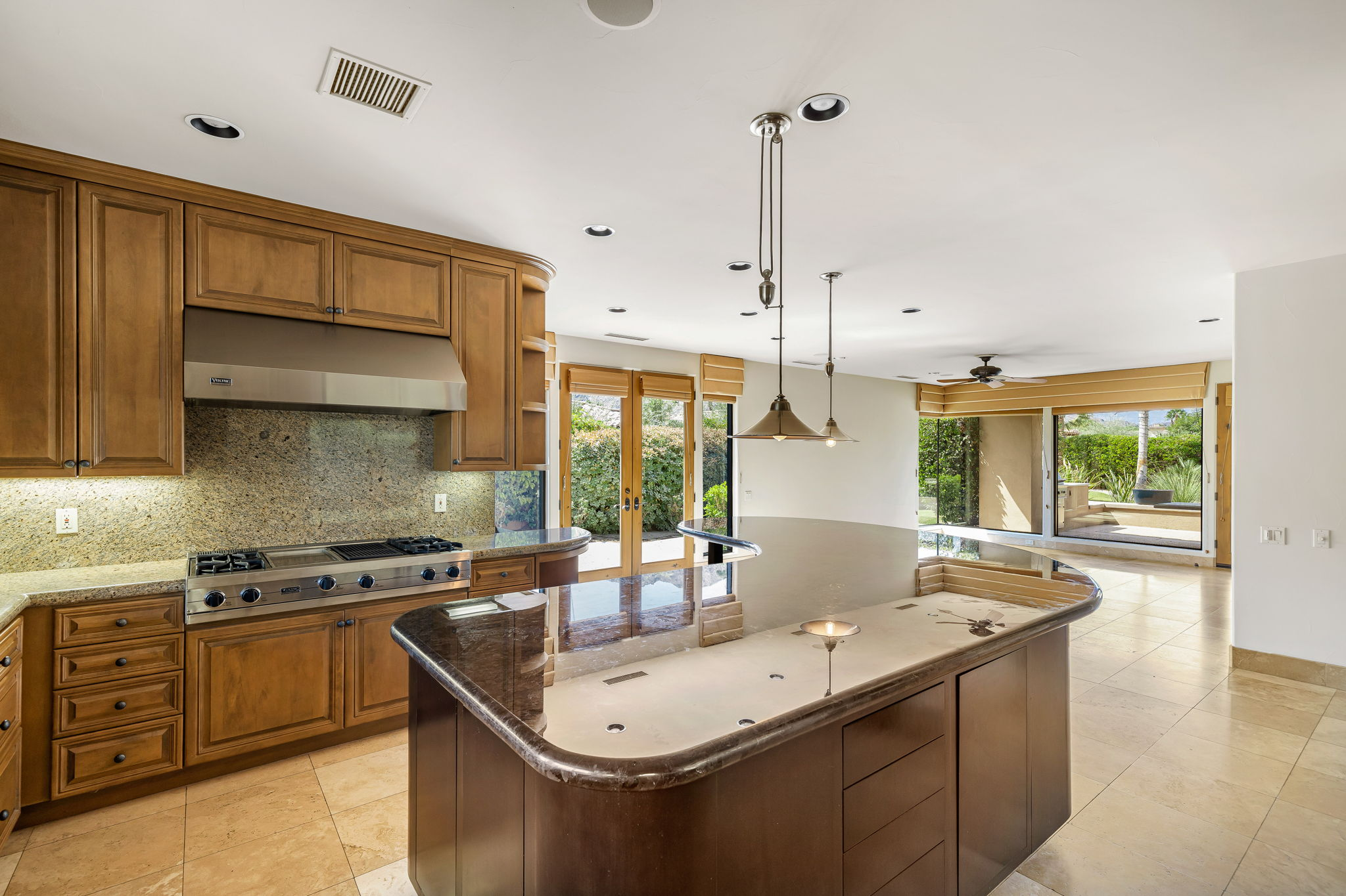 Open Gourmet Kitchen and Family Room