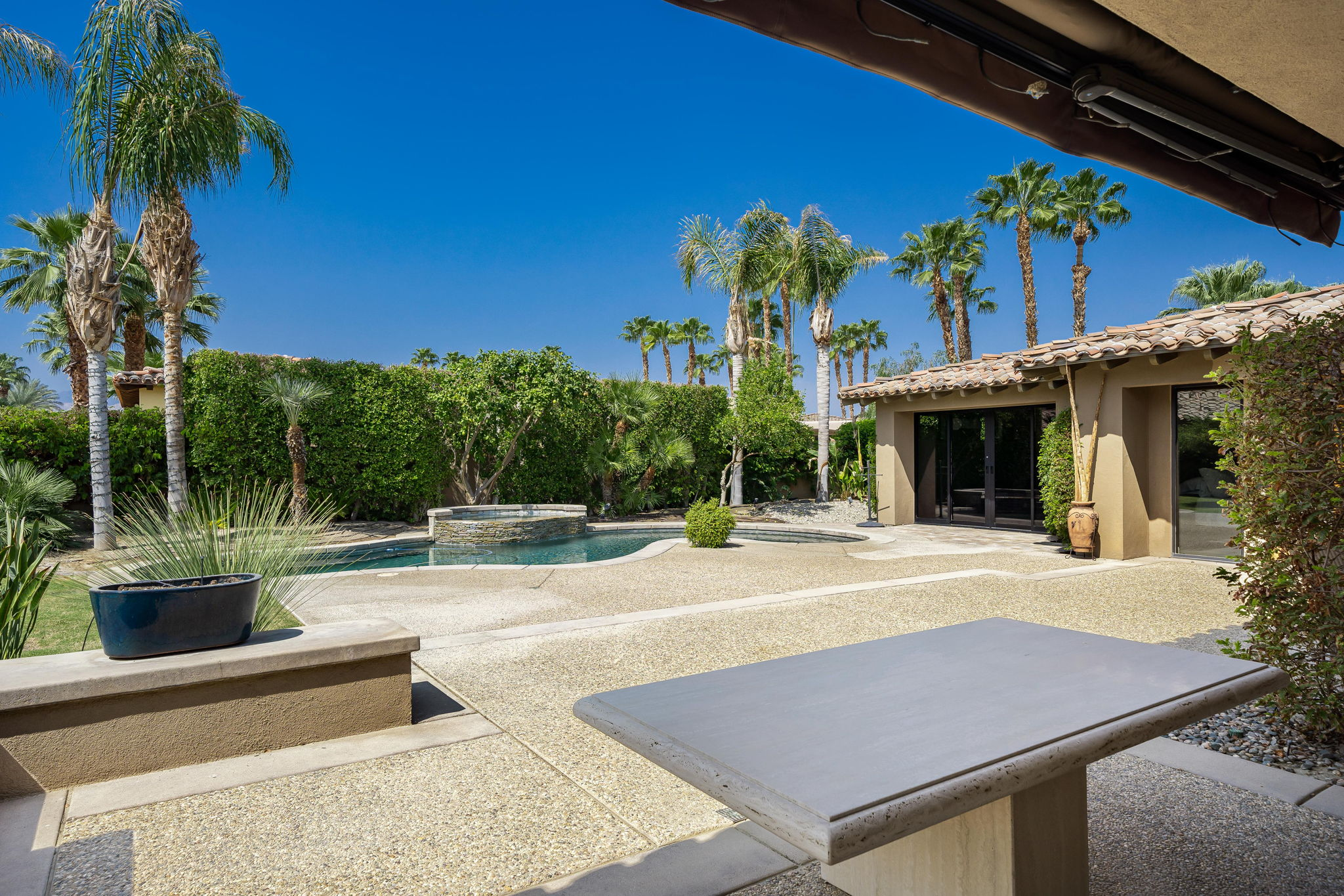 Covered Patio west with Pool/Spa