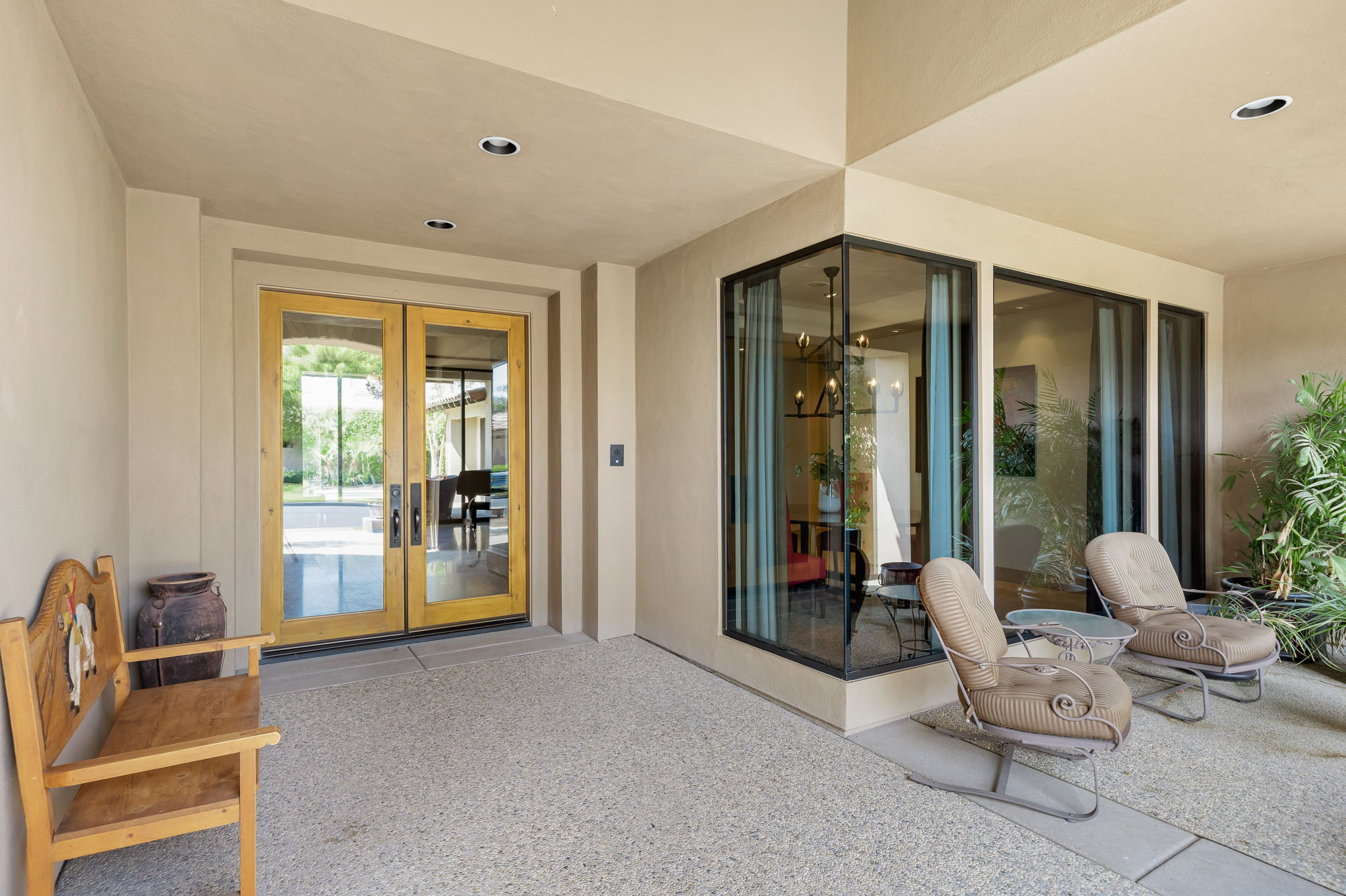 Covered French Door Entry