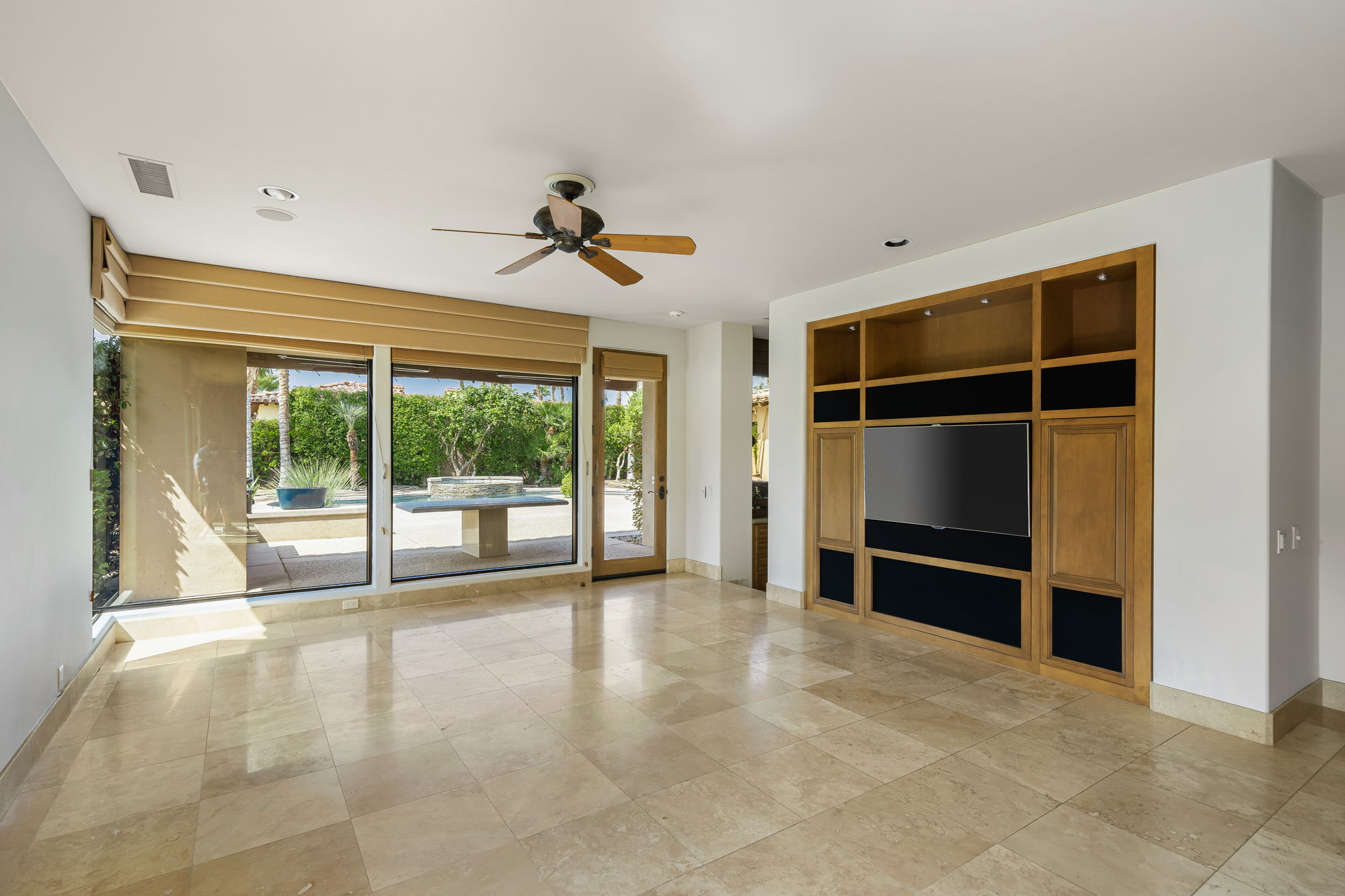 Family Room with Media Center