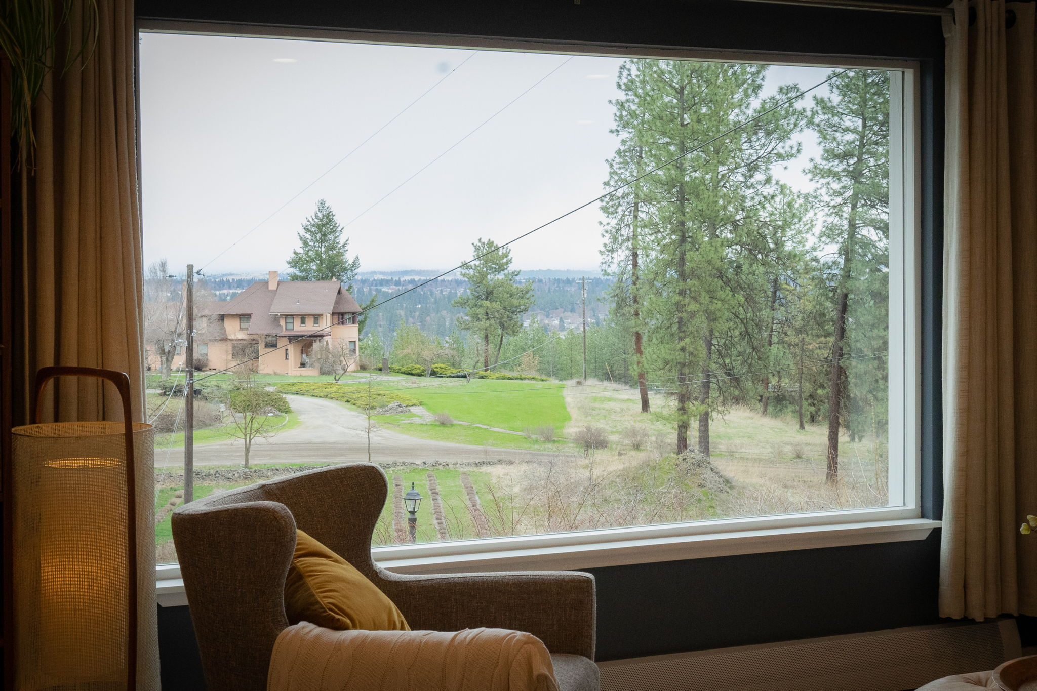 Views of the acreage and Spokane facing east