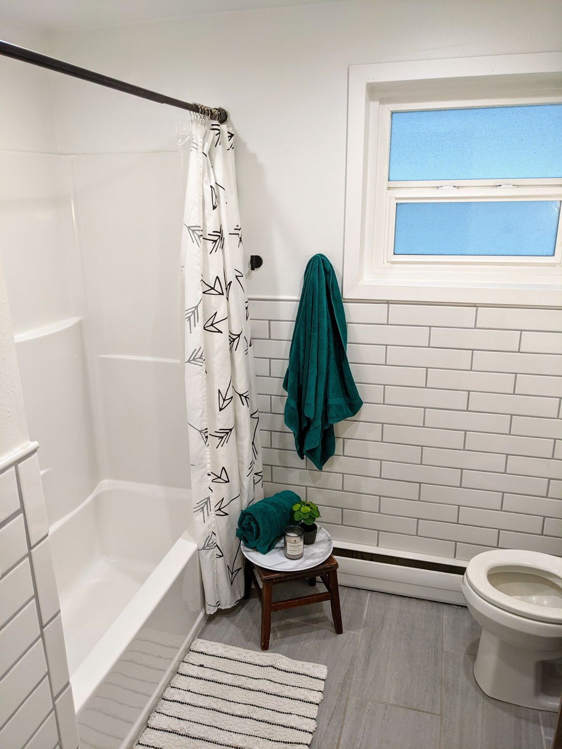 Completely Remodeled Bathrooms with Tub