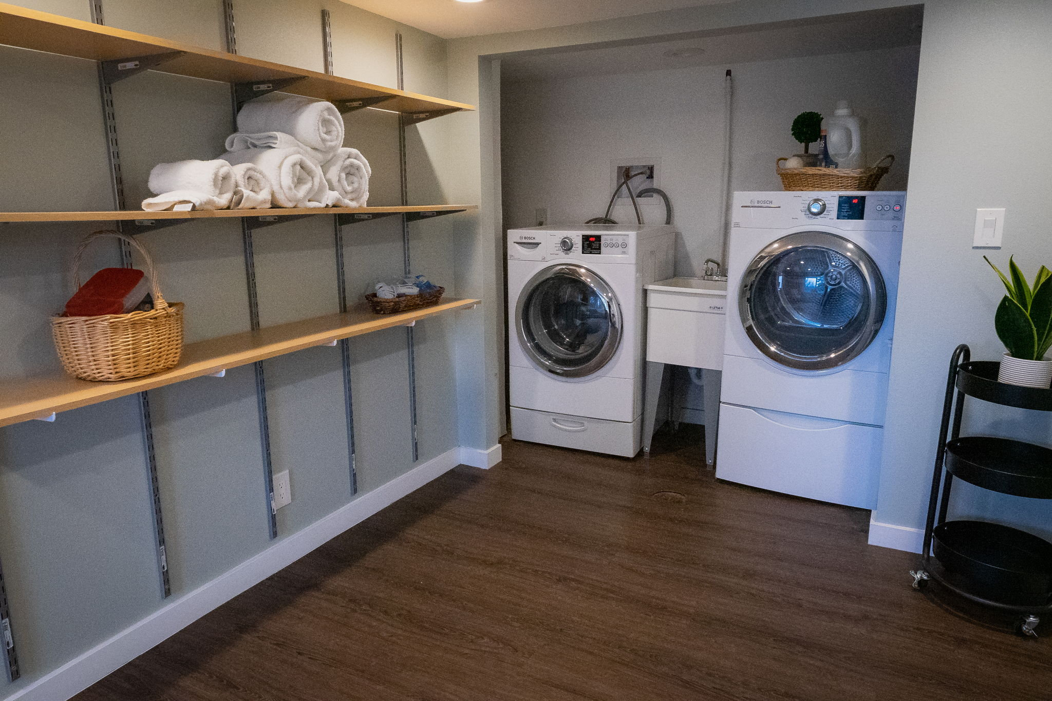 Laundry Area right off of Garage.  Bosch Appliances Stay.