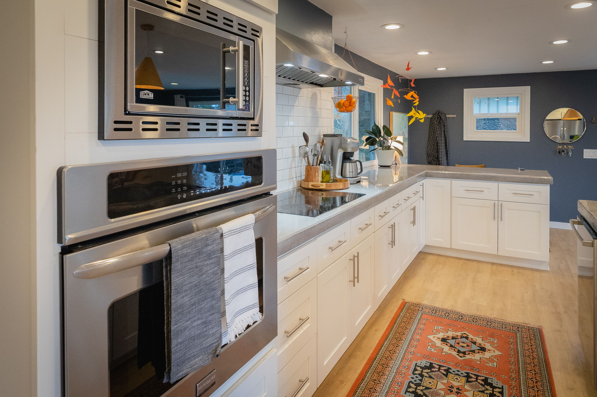 Plenty of storage and stainless steel appliances