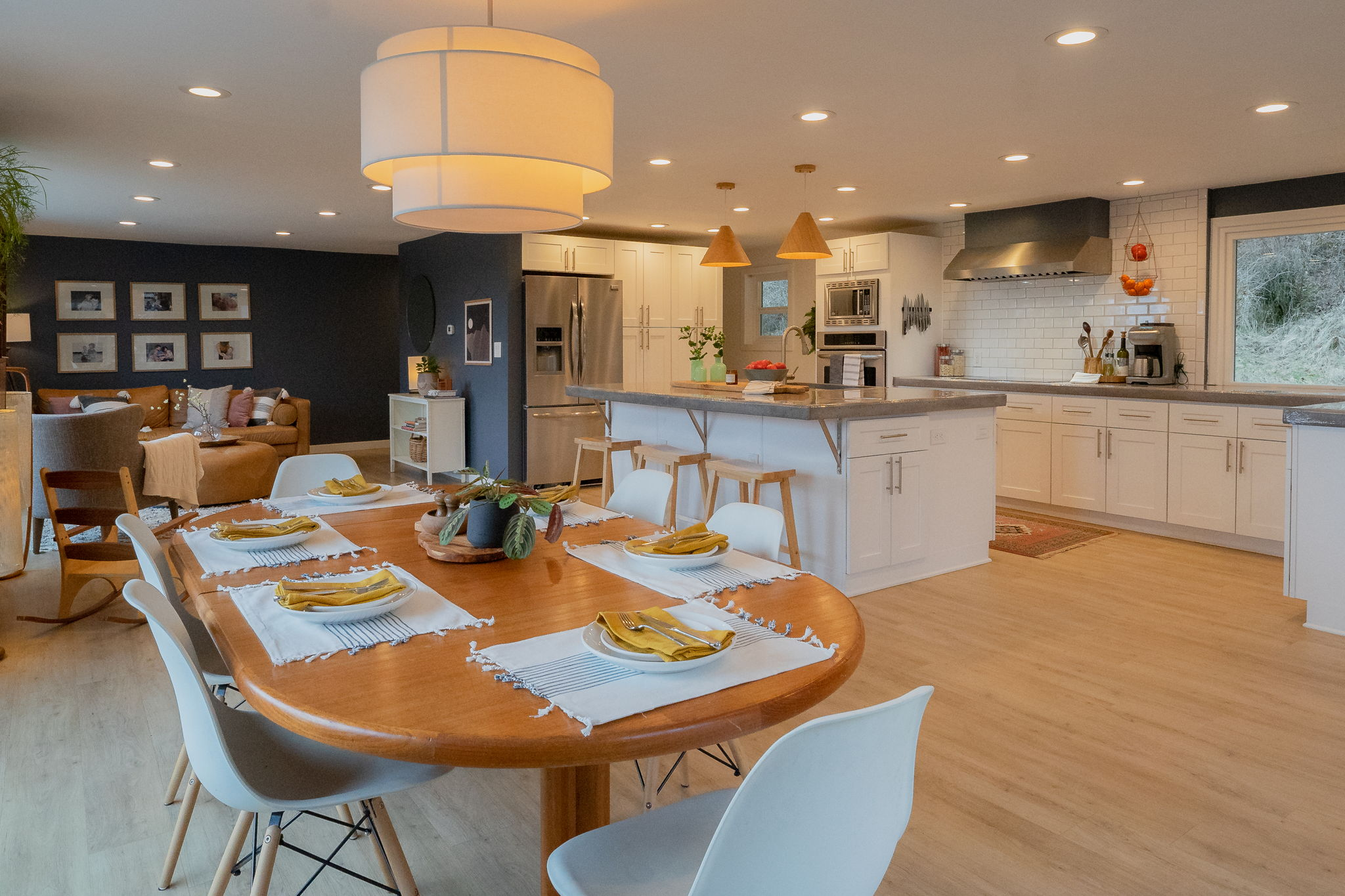 Beautiful new floors and remodeled kitchen