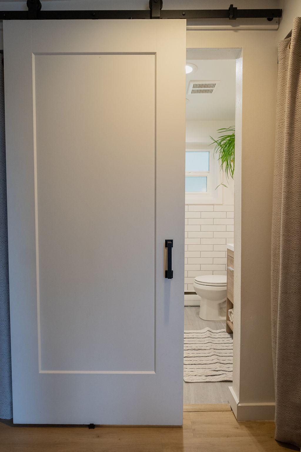 Custom Barn Door Entrance to 2nd floor bathroom