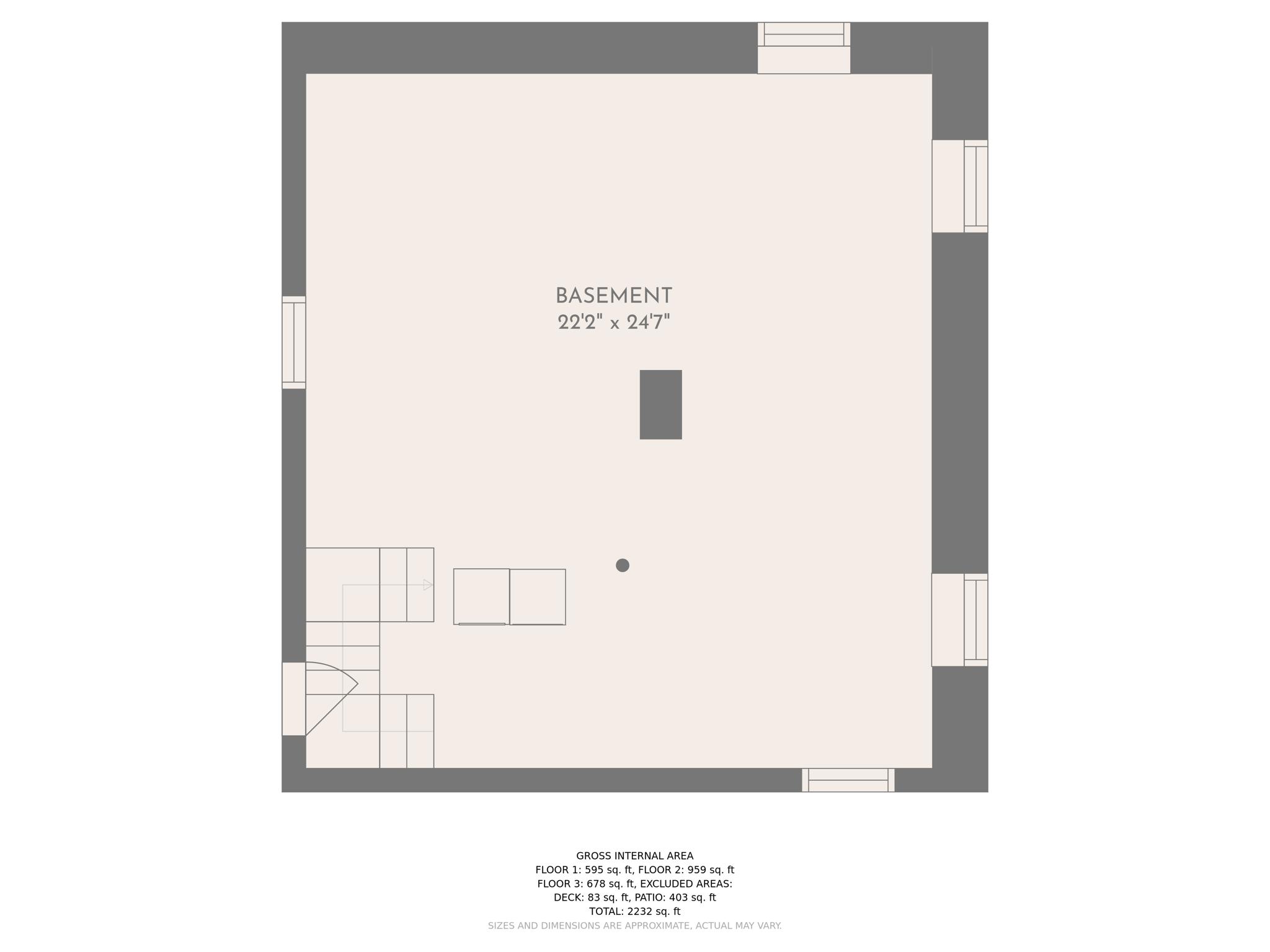 Floorplan Basement