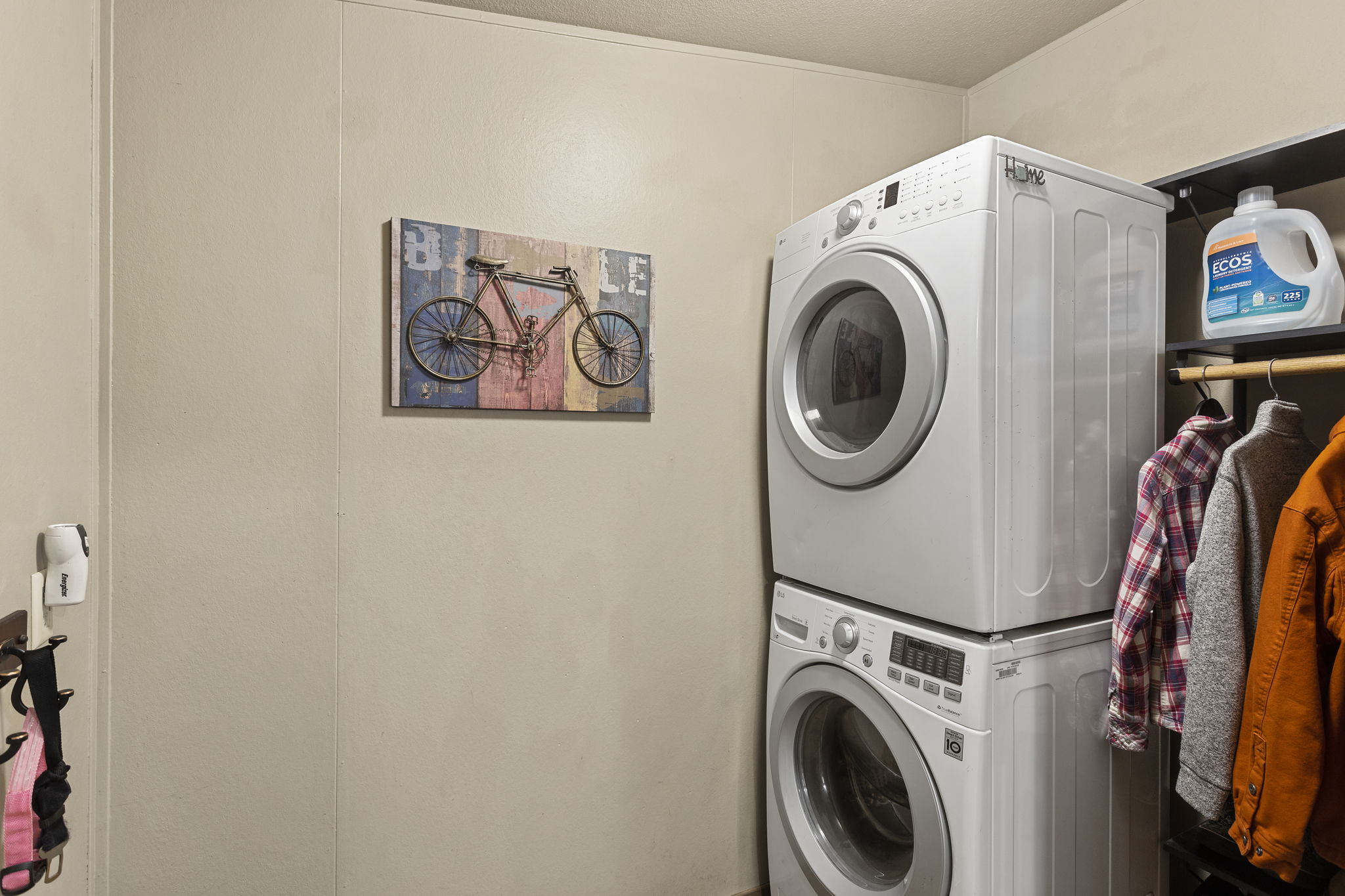Large stackable Washer and dryer included!