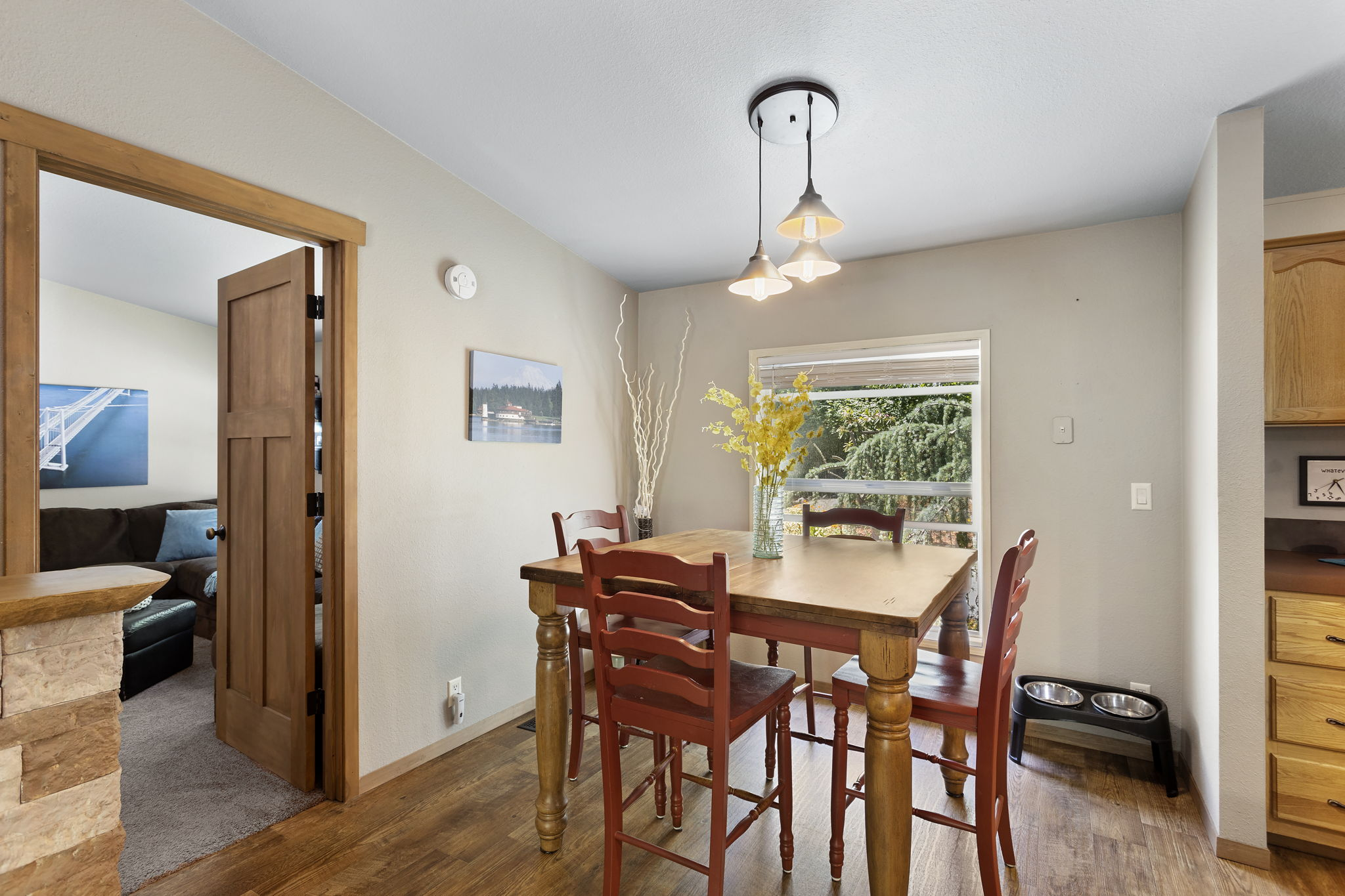 Large family room located off of dining room for easy access and connecting with family and friends