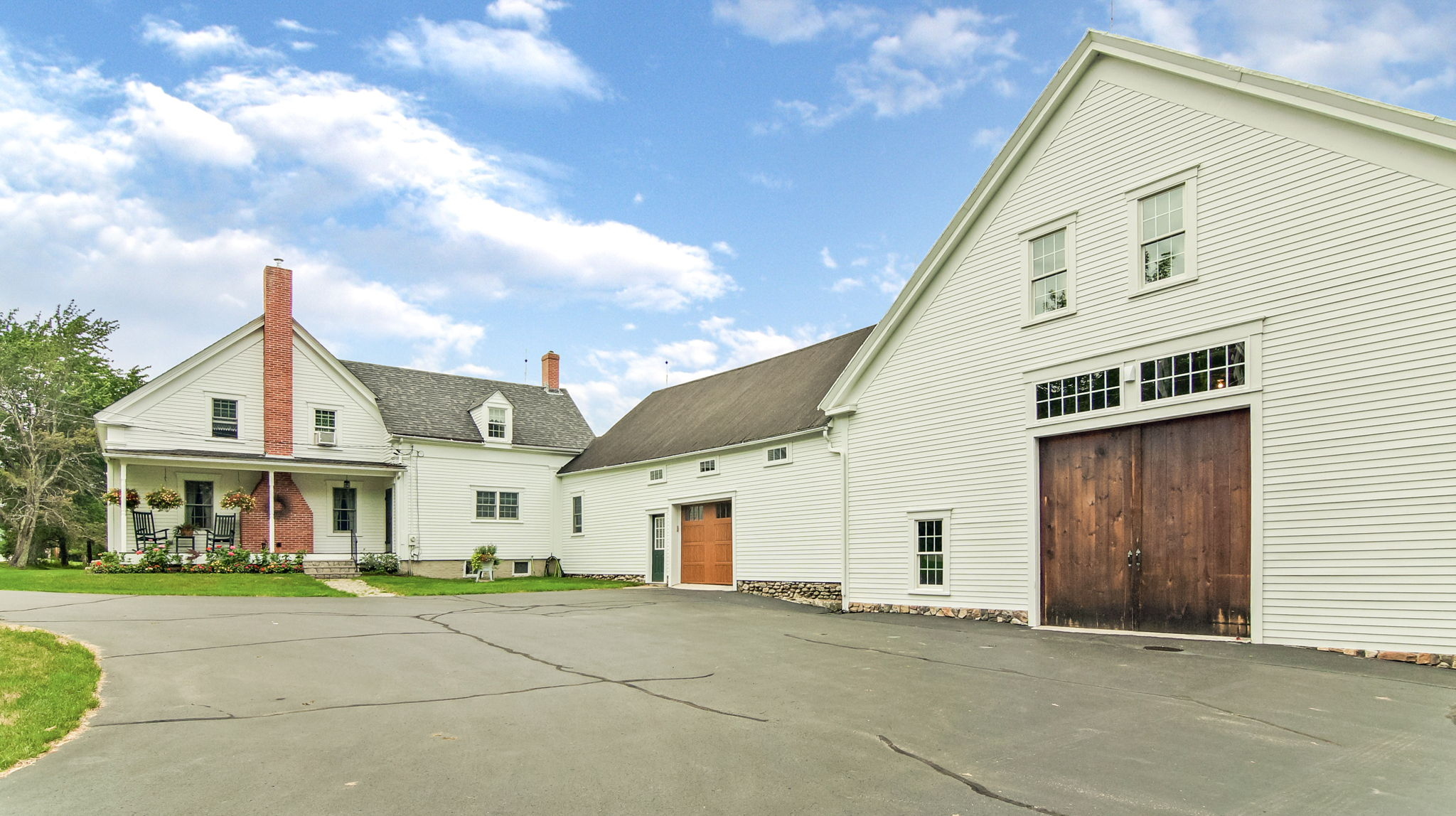 9 Room/ 4 Bedroom Home with Two Large Attached Barns