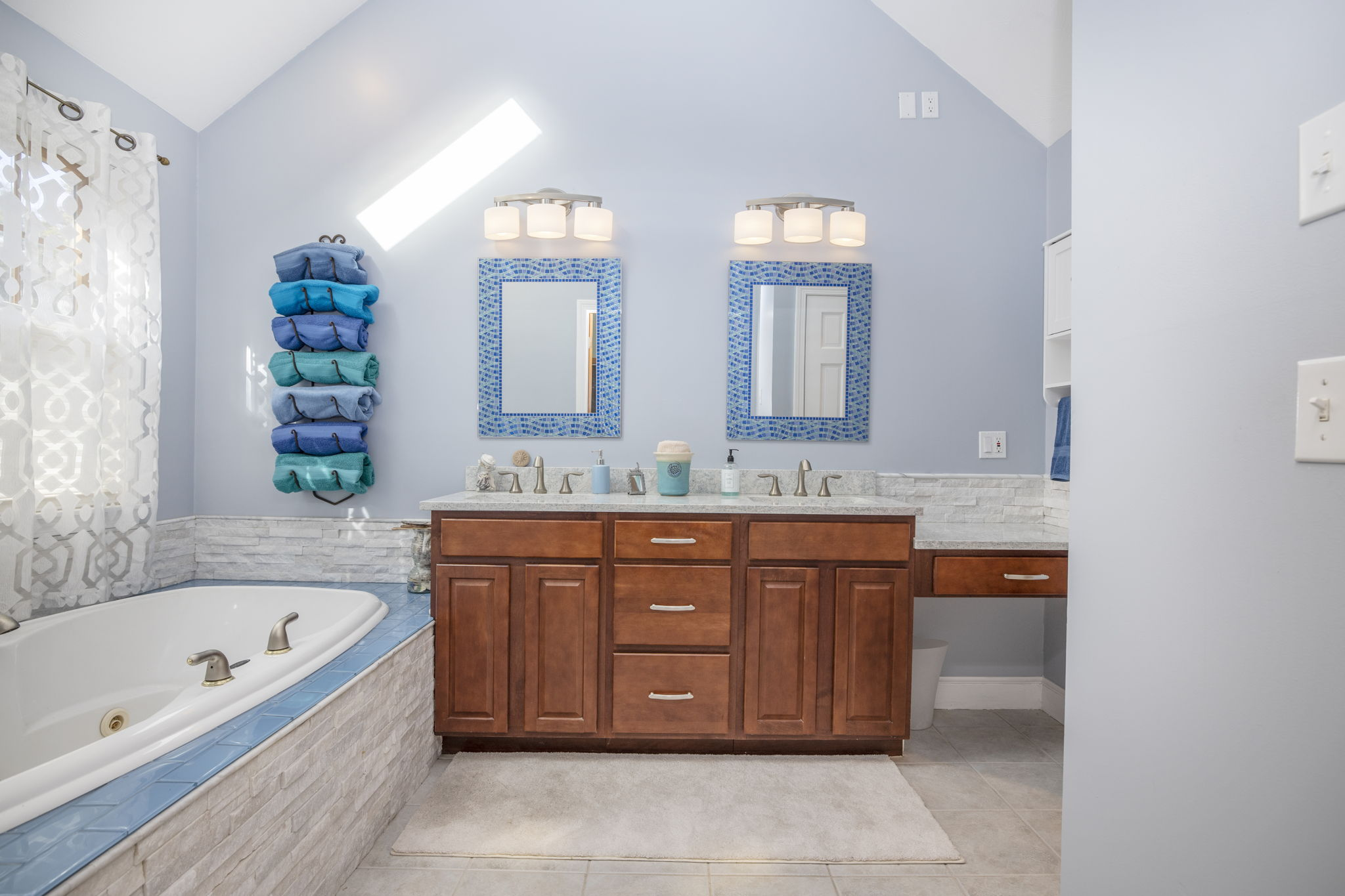Master Bath with soaking tub & double sinks