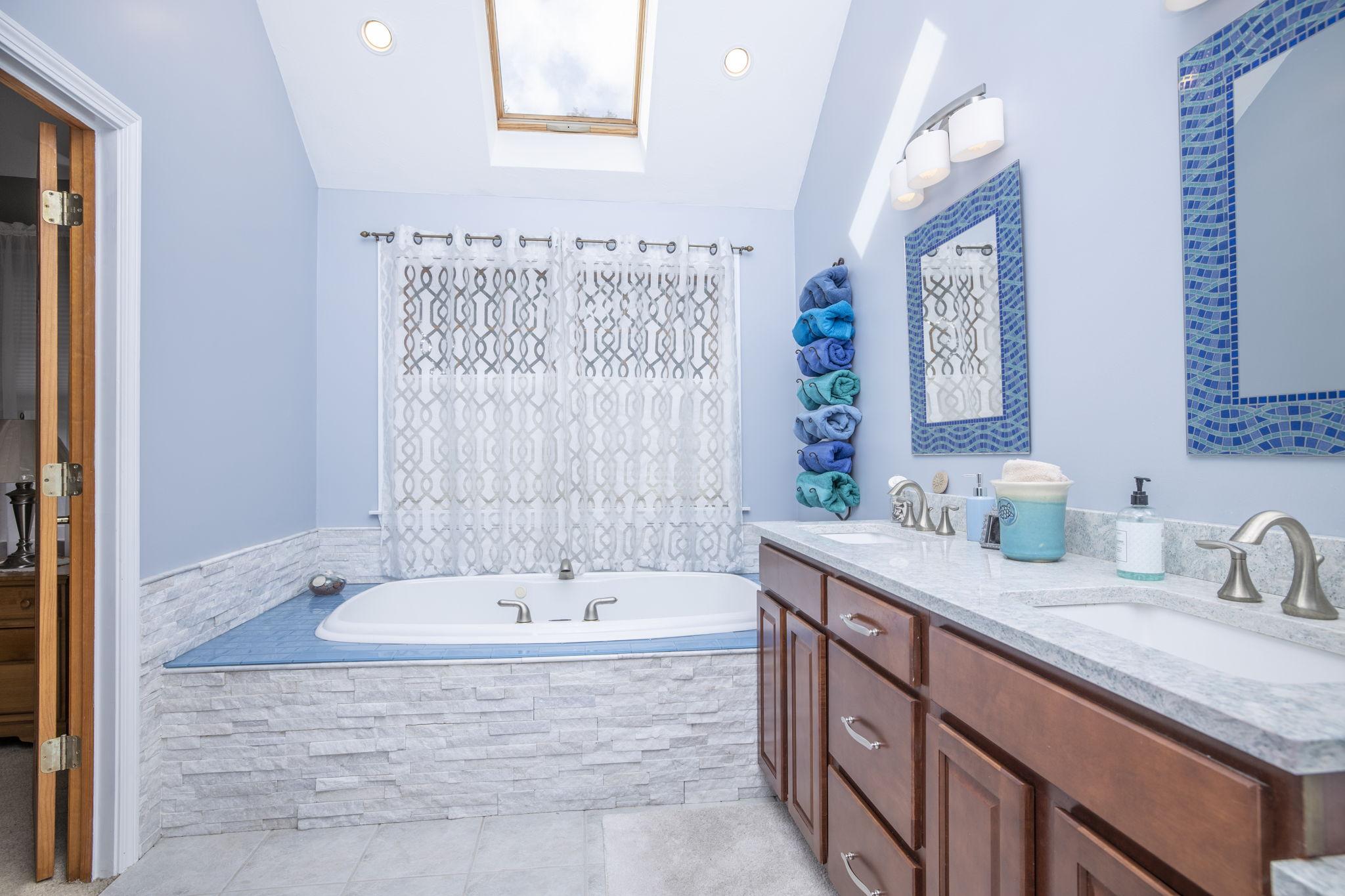 Master Bath-Skylights