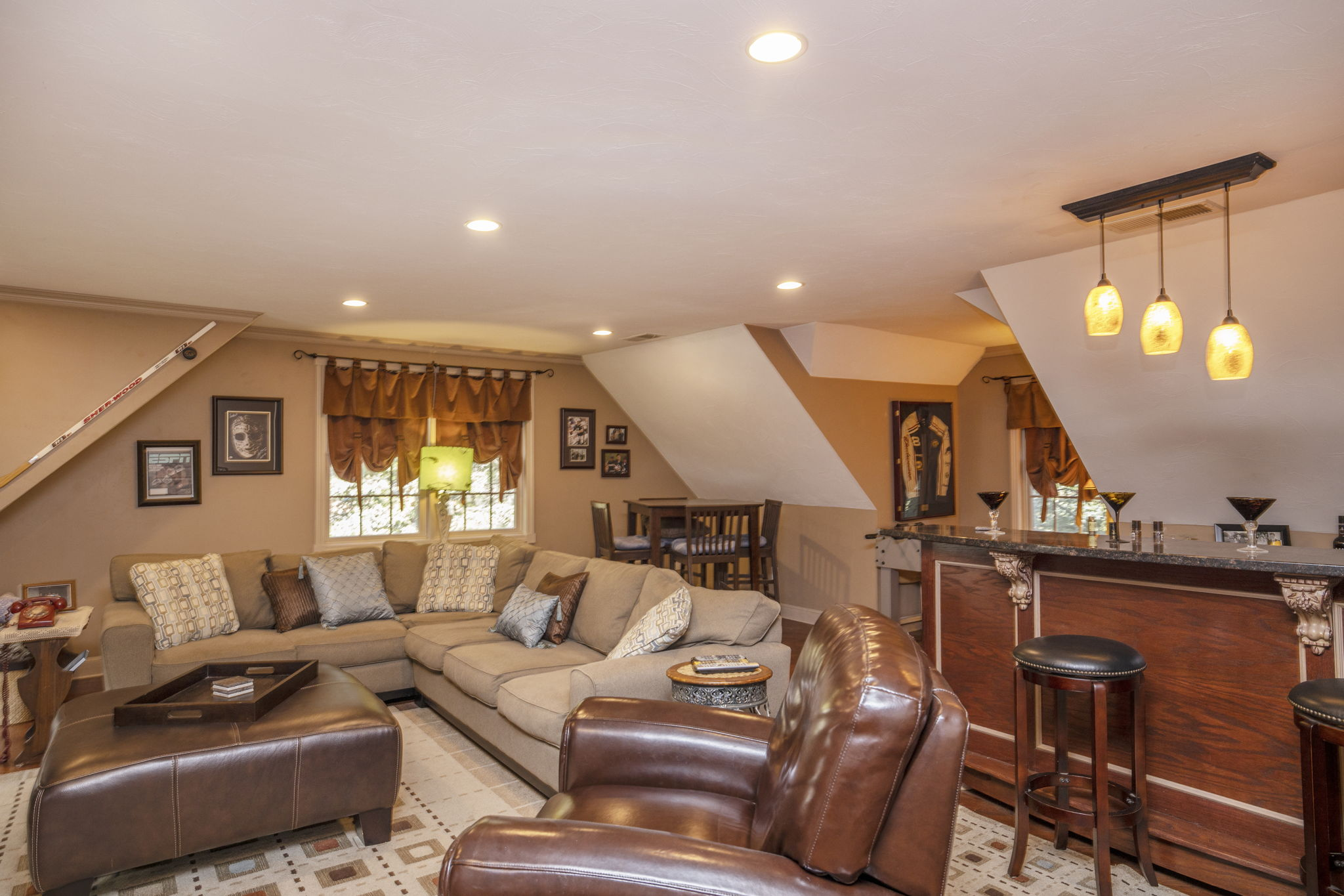 Family room-with bar and game area