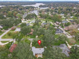 Aerial View With Arrow