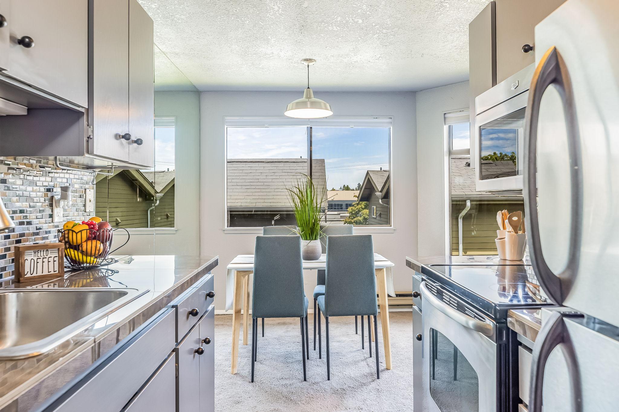 Granite Tile Countertops in Kitchen
