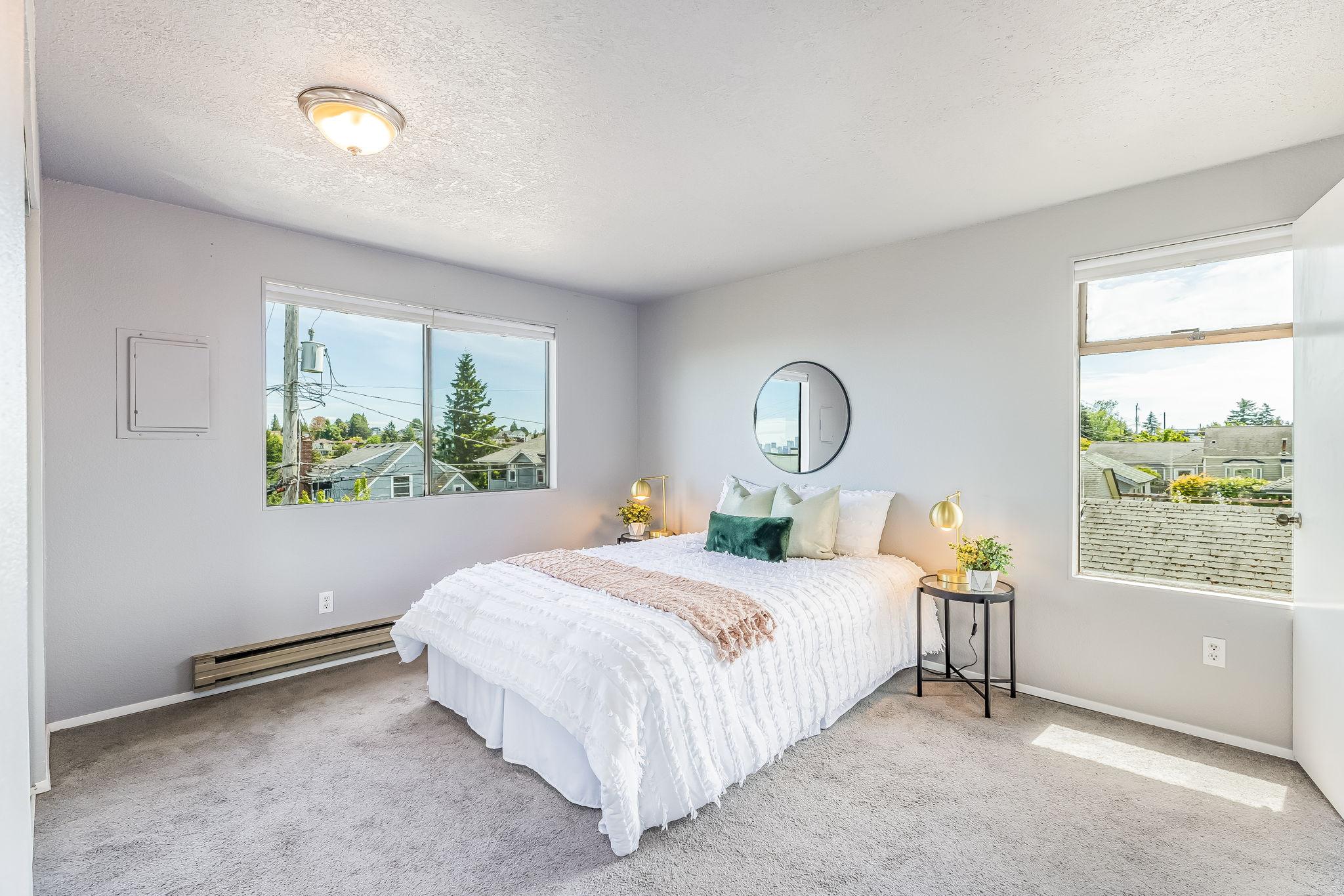 Master Bedroom Mt. Ranier View