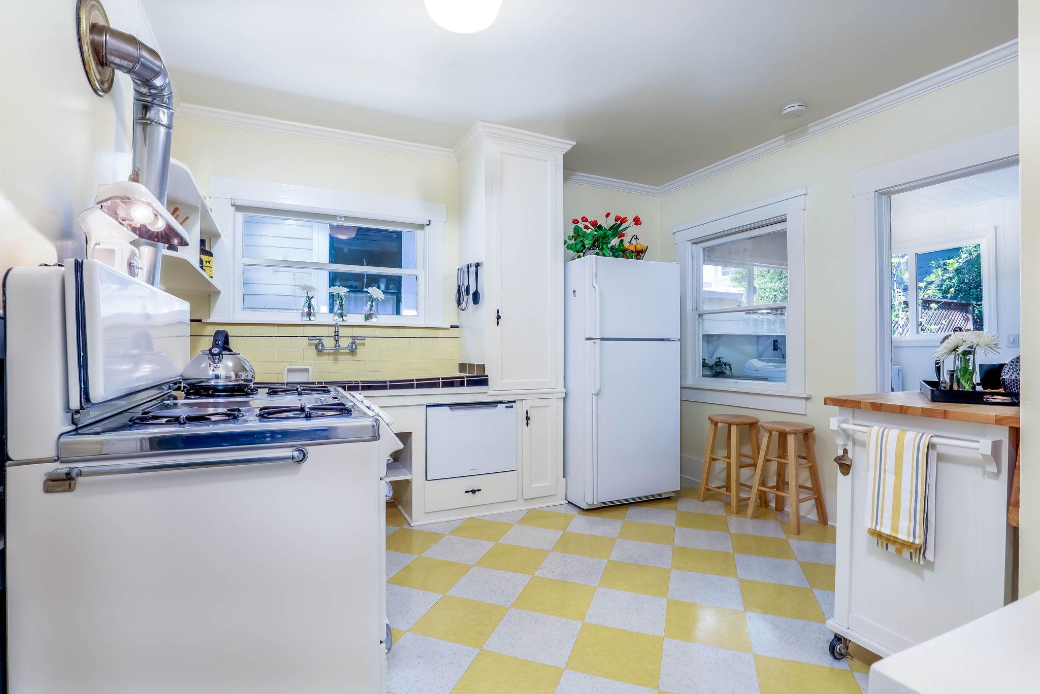 Whimsical & Spacious Kitchen