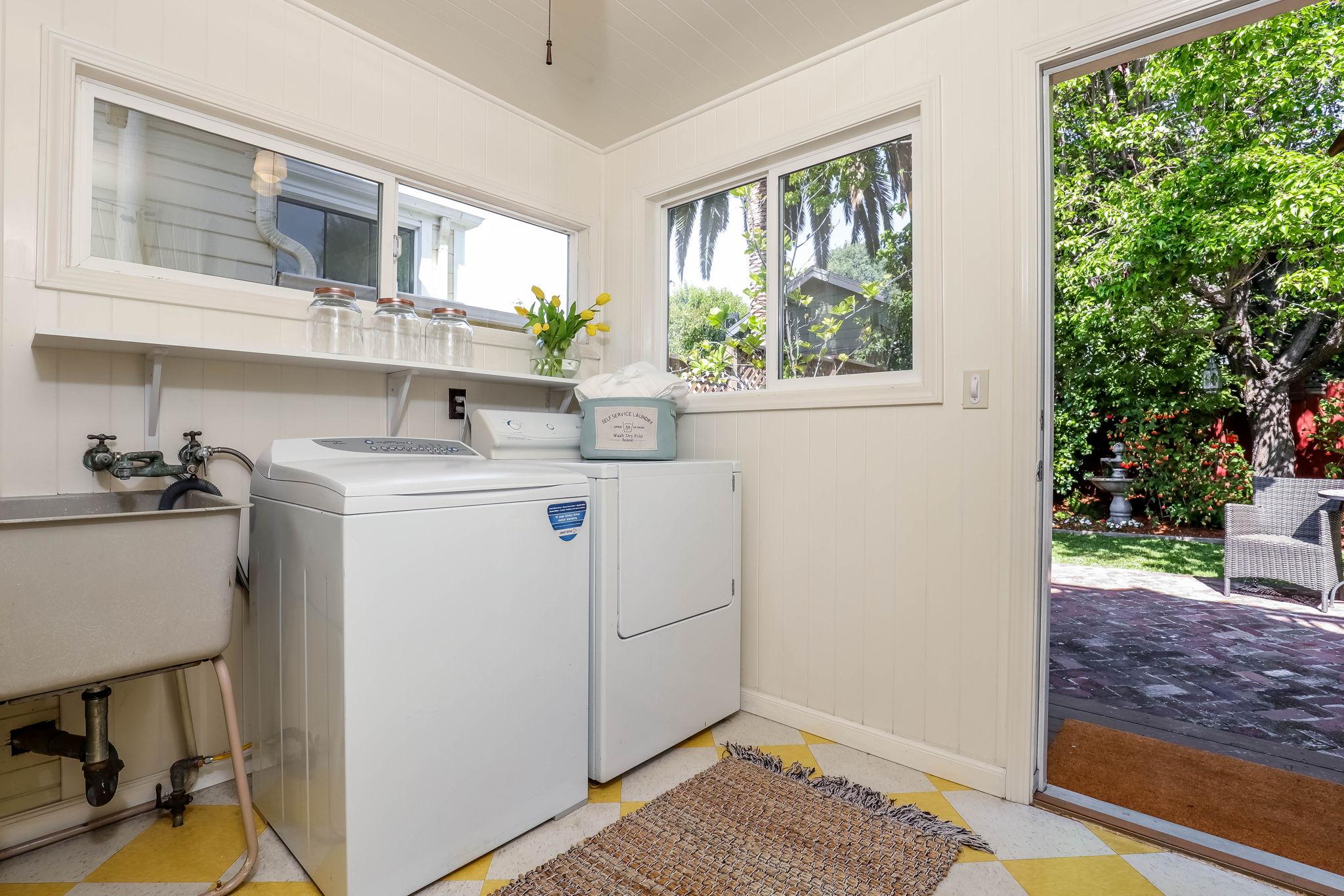 Fantastic Laundry/Mud Room Porch