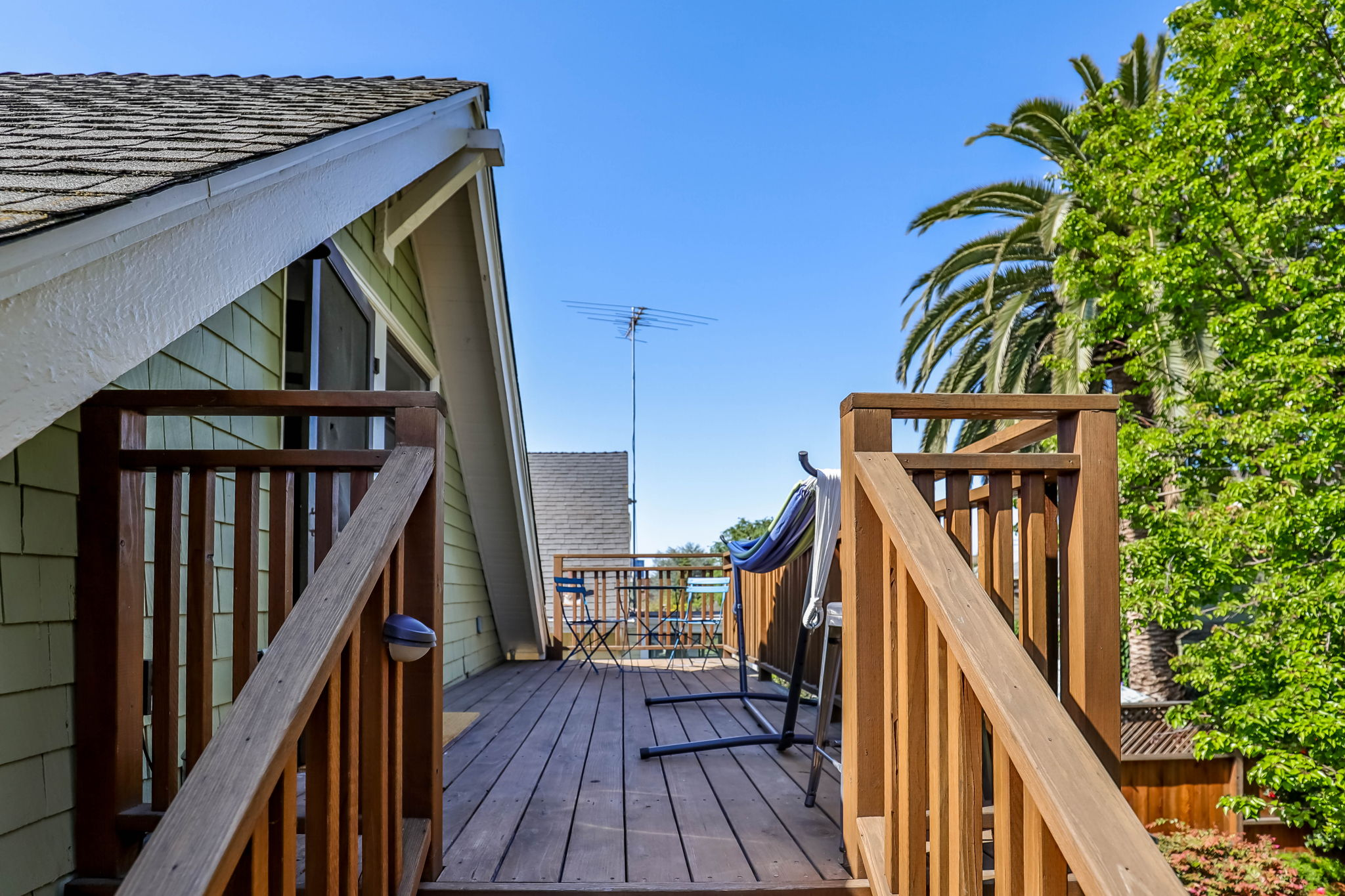 Private Deck for Upstairs Unit