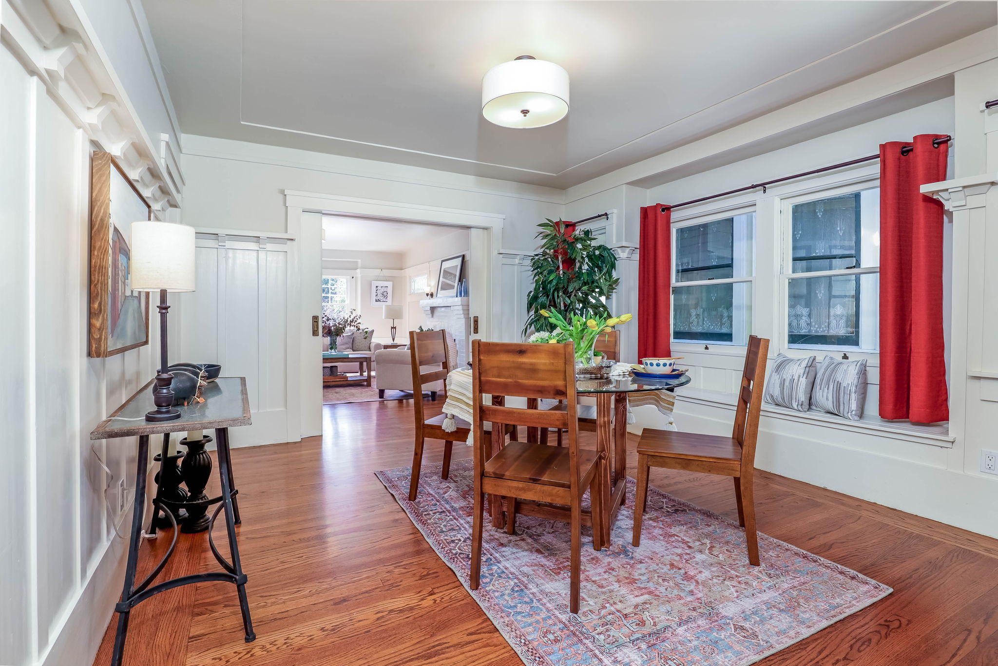Expansive Dining Room open to Living