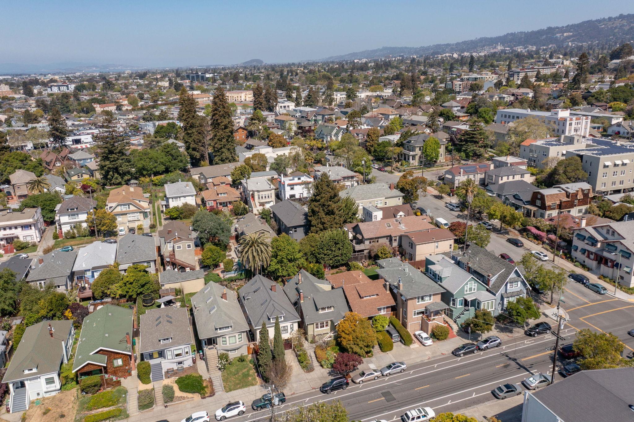 Aerial View of Howe Street