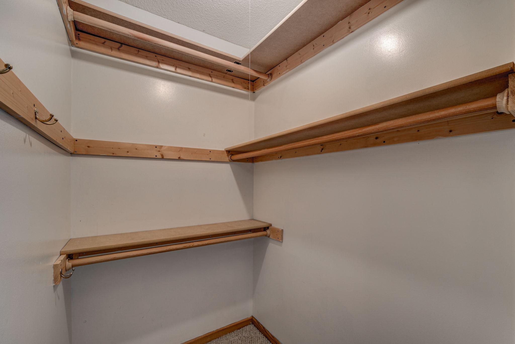 Lower Level Bedroom 1 Closet