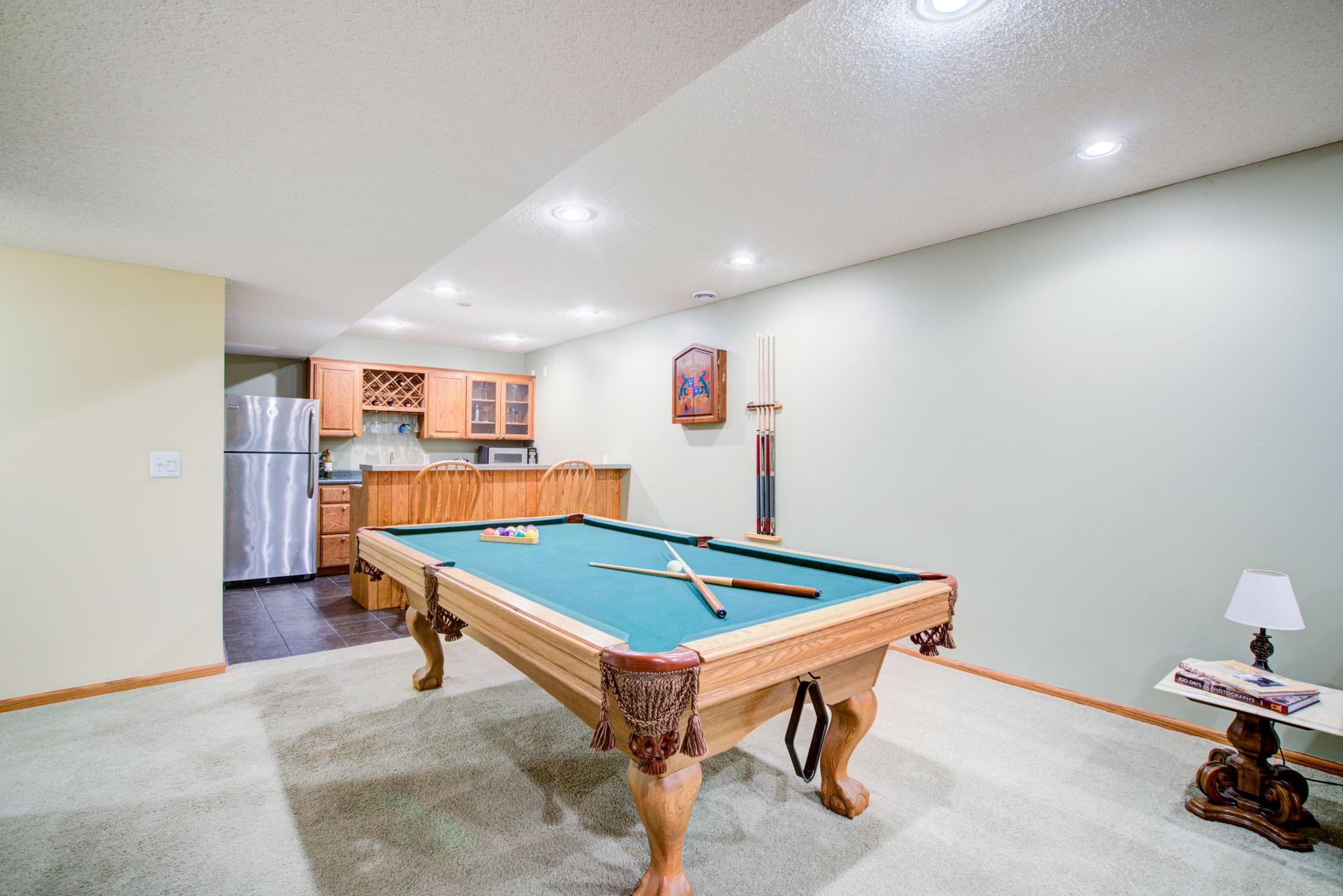 Pool Room/Wet Bar