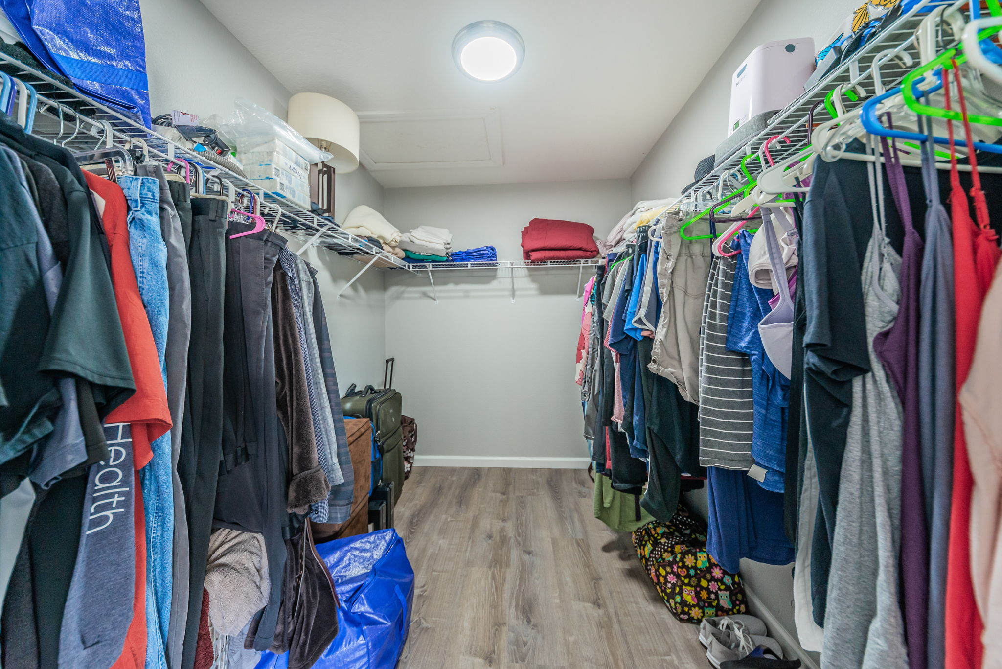 Upper Level Master Bedroom Walk-in Closet