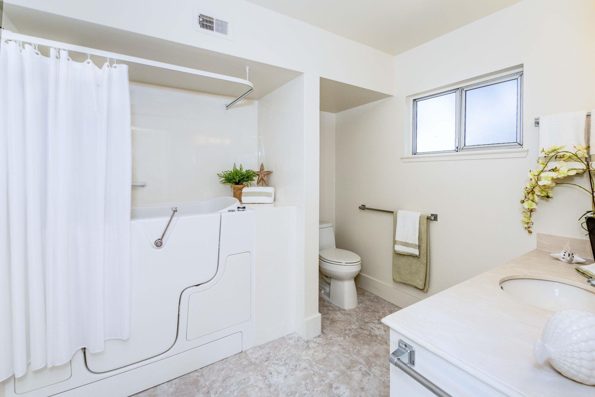 Master Bathroom with walk-in tub