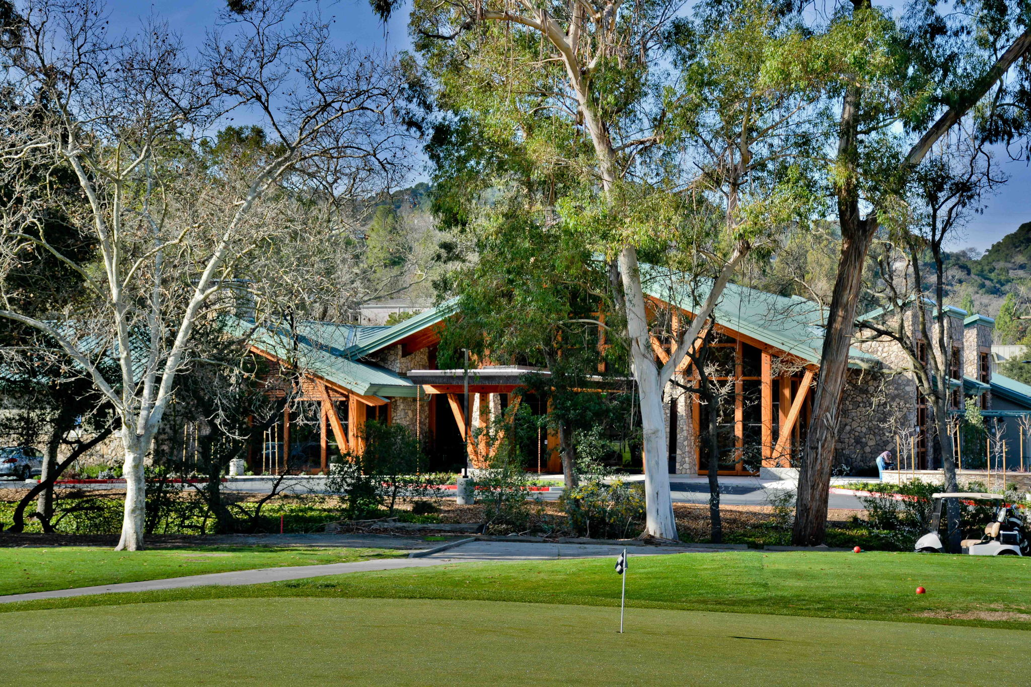 View of Rossmoor Event Center from Golf Course