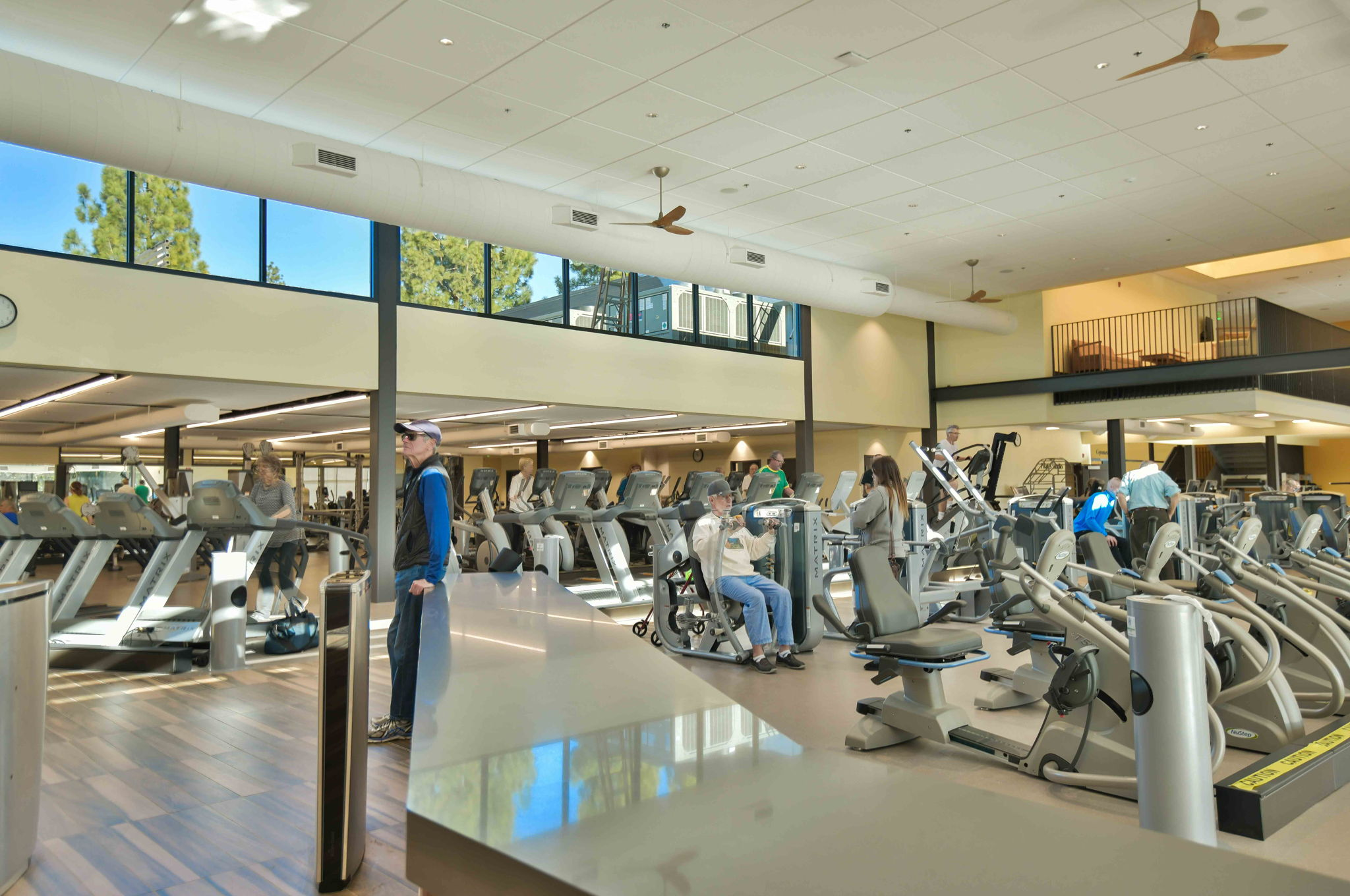 Gym at the Fitness Center