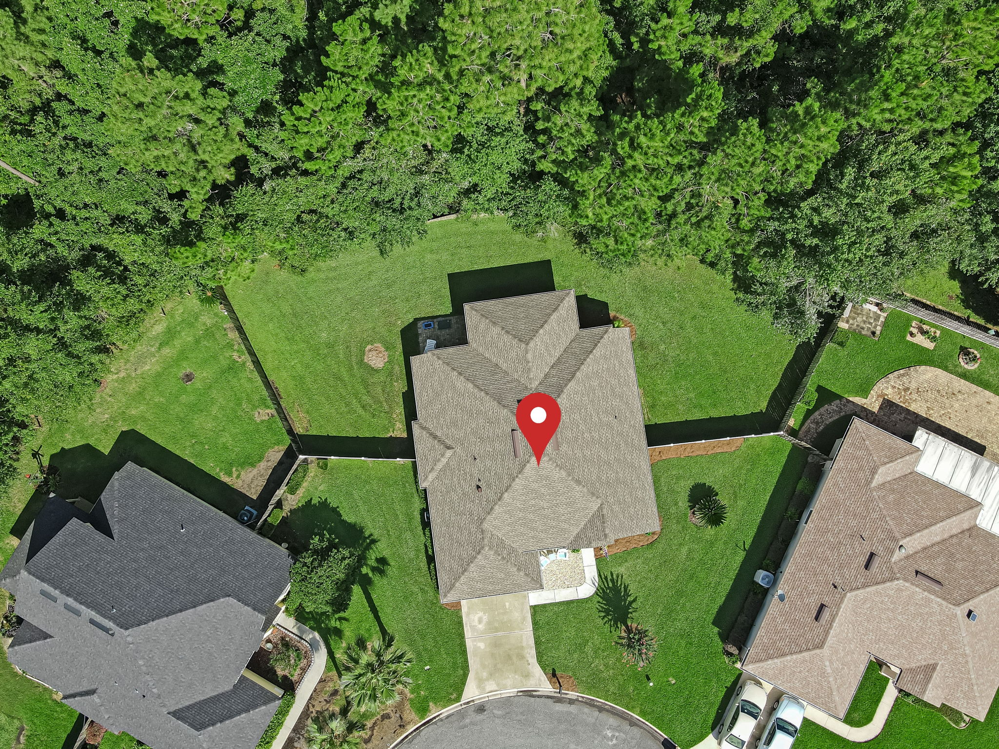 Aerial View With Pin