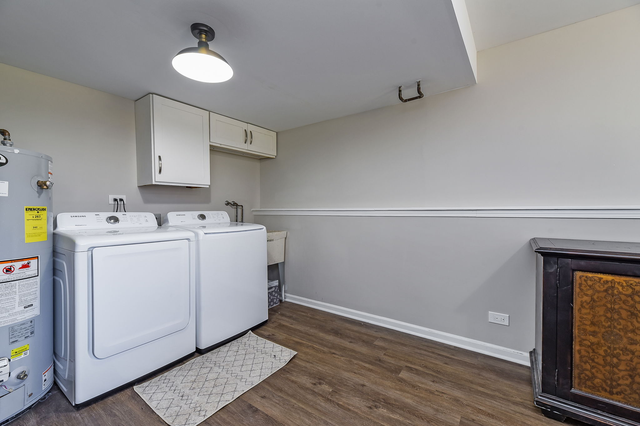 Laundry and large storage area