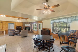 High Ceilings in Dining & Living