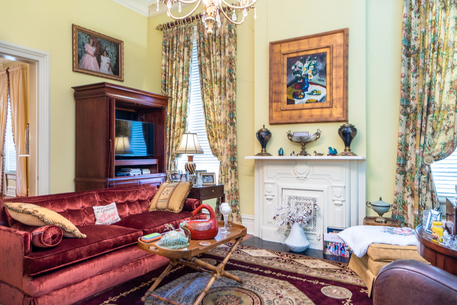 And a comfortable and very private sitting room