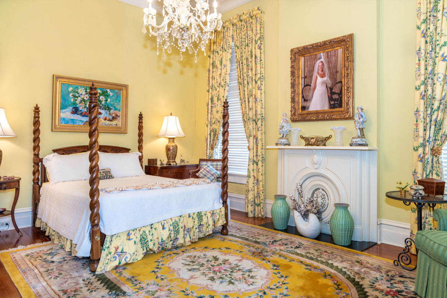 The front guest room is lovely