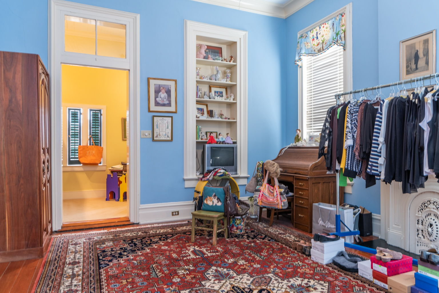 And the back guest room is used as a playroom