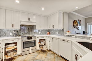 Kitchen -Custom design features for pots and pans