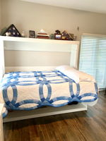 Guest Bedroom #2 - Custom made Murphy's Bed transforms from a desk to Full Size Bed