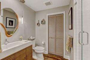 Private Guest Bath #1 - Gentlemen Height Vanity and Toilet