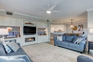 Living Room - Custom Built Entertainment Center