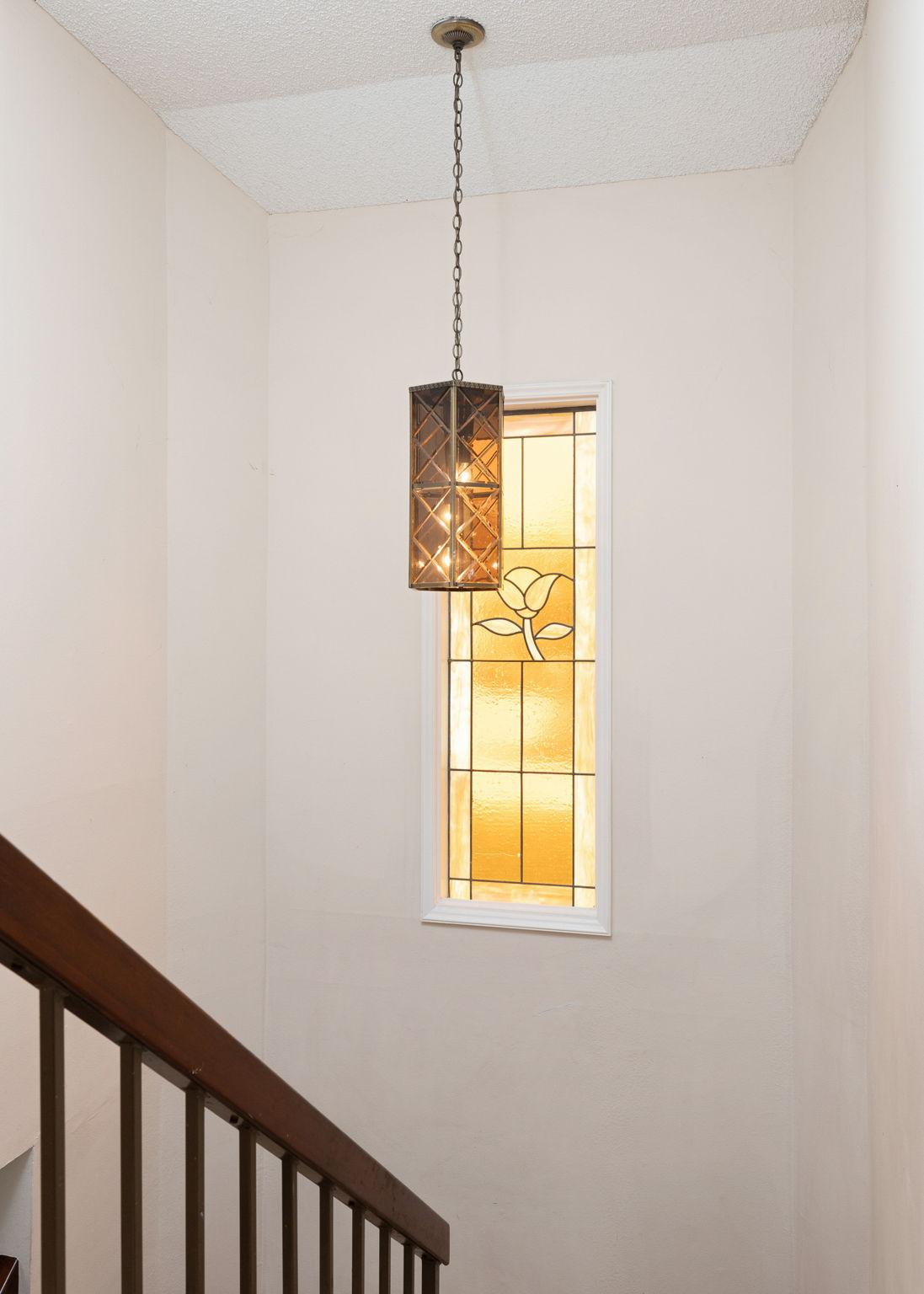 Decorator window in stairway